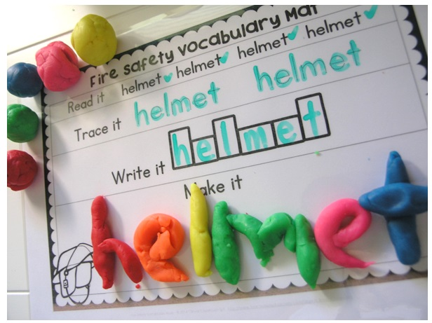 fire safety week vocabulary word work idea