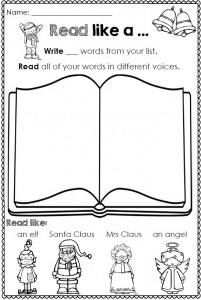 Christmas Printables for any Word List Clever Classroom Image 4