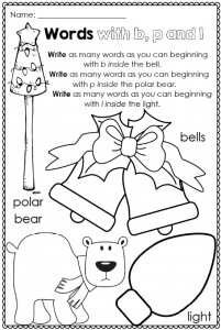 Christmas Printables for any Word List Clever Classroom Image 9