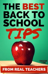 The Best Back to School Tips for Real Teachers