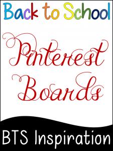 Back to School Pinterest boards