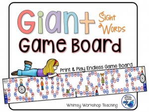 FREE Giant Sight Words Game Board