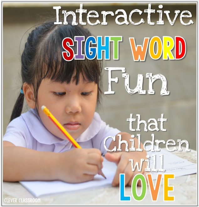 Interactive Sight Word Fun Children will Love
