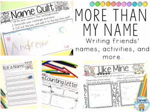 Editable name writing printables and activities for Pre-K and K