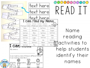 Editable name writing printables and activities for Pre-K and K Clever Classroom