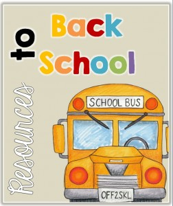 Back to School Resources K-3