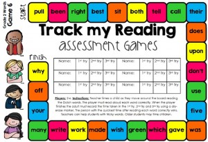 Track sight words by assessing them with games, SO MUCH FUN