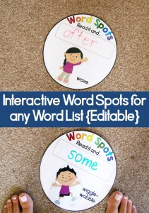 Word Spots for active learner. Use this with any word list.