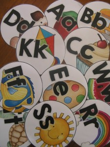 Alphabet labels for the classroom library or word wall
