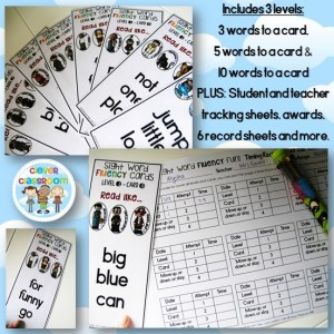 Assessing sight word FLUENCY while children are playing, GENIUS!