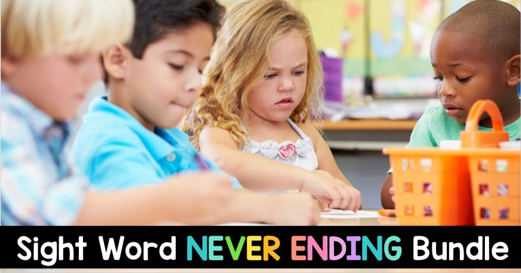 Sight Word Never Ending BUNDLE for K-2