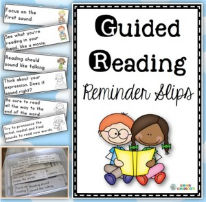 Guided Reading Reminder Slips Front Cover Image