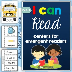 I Can Read Emergent Reader Activities and Centers Front Cover Image