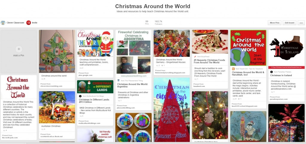 Christmas Around the World Pinterest Board Clever Classroom