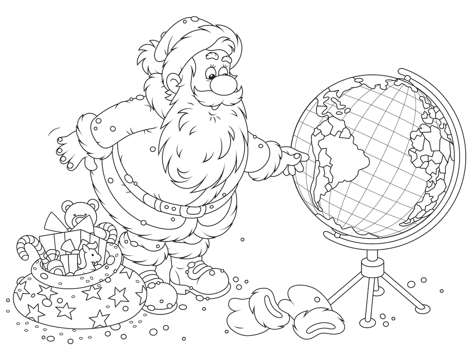 The Amazing Christmas Around The World Coloring Pages ...