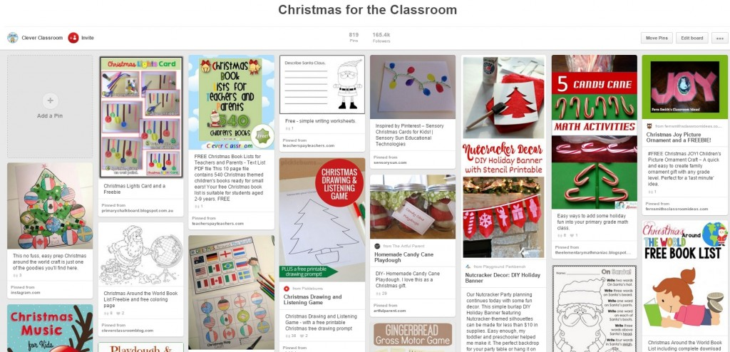 Christmas for the Classroom Pinterest board