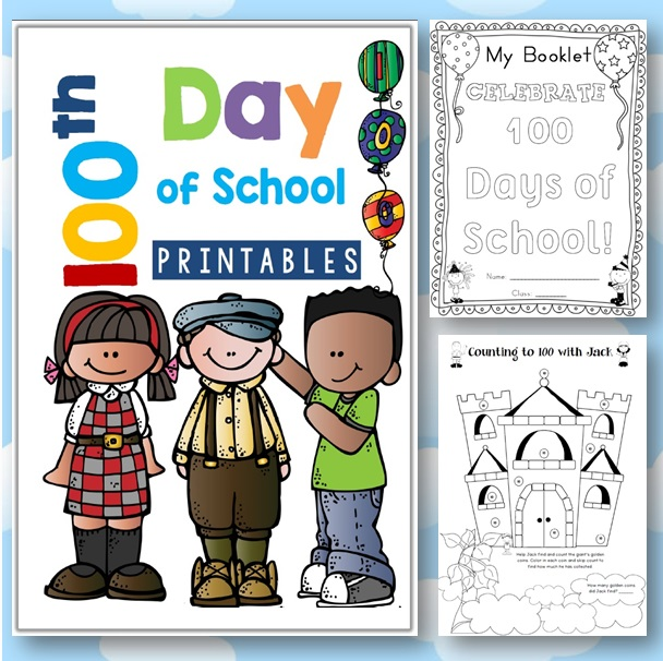 100th Day of School FREE - Clever Classroom Blog
