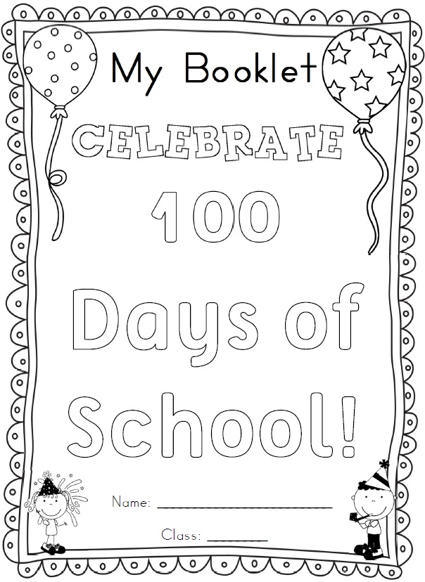 Free 100th day of school worksheets for kindergarten