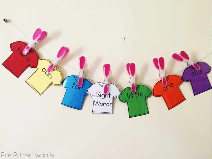 Sight Word T Shirts Clever Classroom