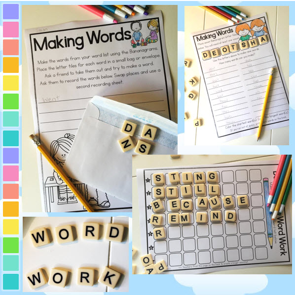 Bananagrams word work freebie