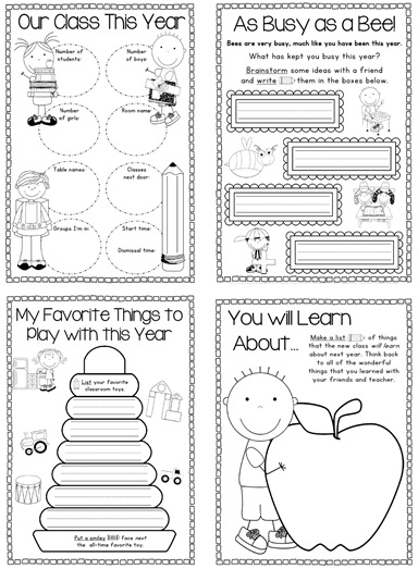 End of Year Memory Book Clever Classroom