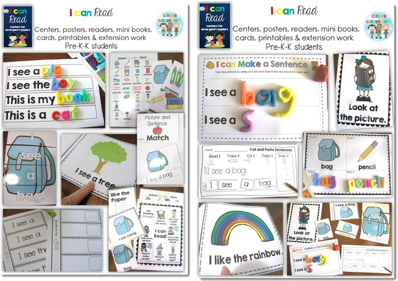 Learn to read and write activities for kindergarten