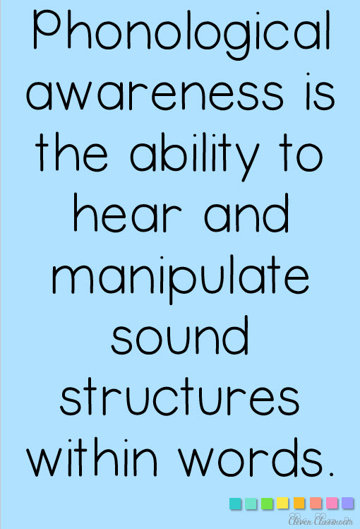 Phonological Awareness and phonemic awareness skills and free download