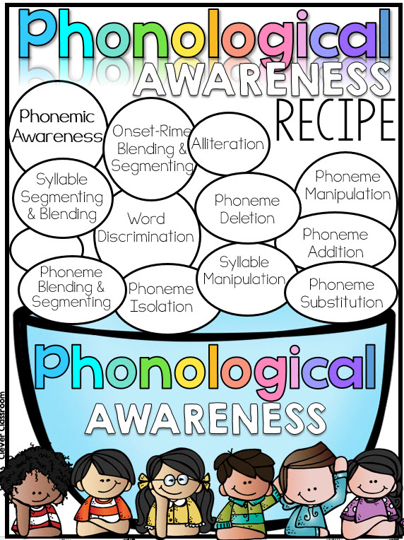 Phonological Awareness recipe FREEBIE via Clever Classroom