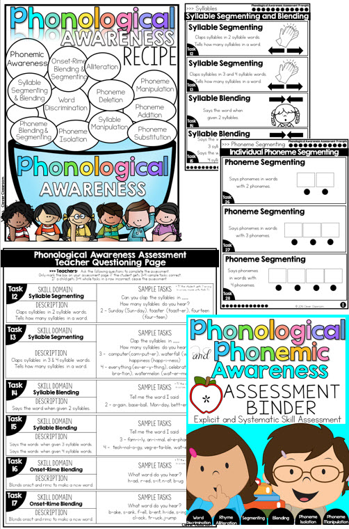 Phonological and Phonemic Awareness Assessment Binder