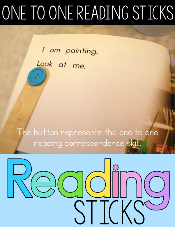 Guided reading idea fluency with 3 levels of reading sticks for emergent readers