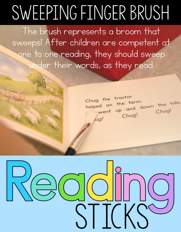 3 levels of reading sticks to match emergent reading progression great idea for Kindergarten first grade and reading RTI
