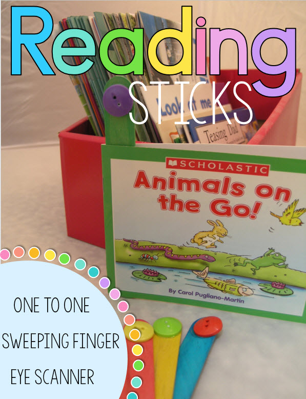Guided reading sticks - 3 levels to help children's developing reading competencies including fluency and comprehension