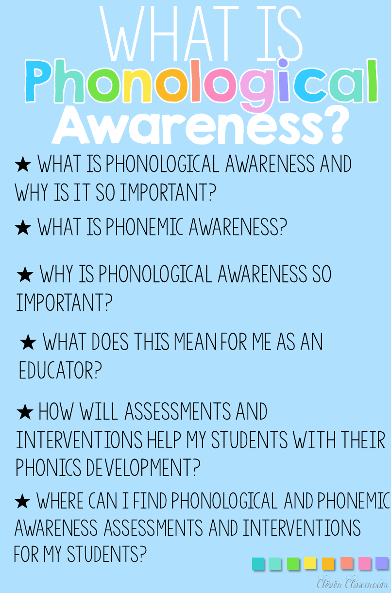What Is Phonological Awareness Clever Classroom Blog