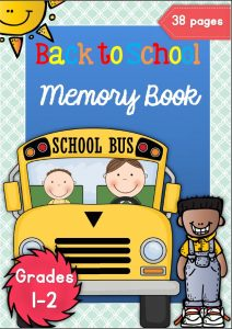 back to school memory book and ideas