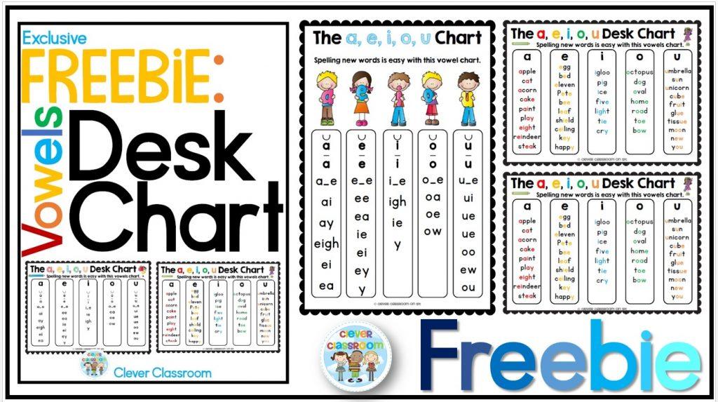 Clever Classroom FREEBIE - Desk Strips Banner Image 2015