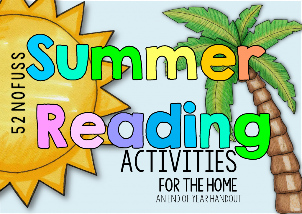 Summer reading for the home handout for parents or download for parents. This post includes a FREE summer vocabulary chart too.