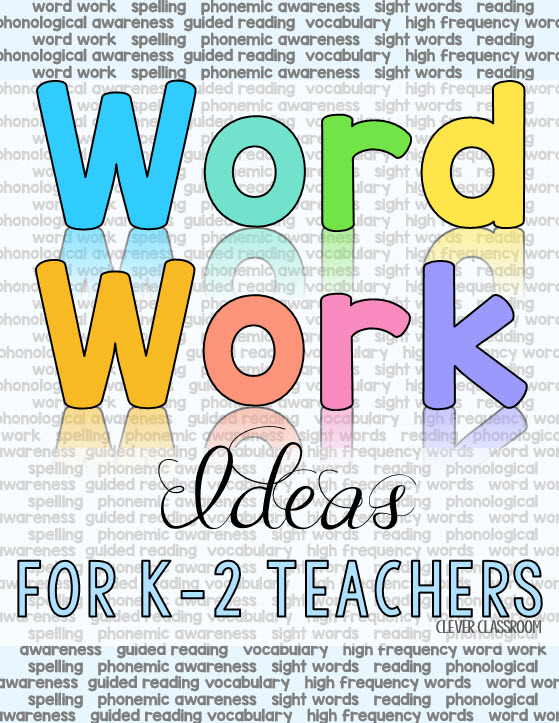 Word work ideas for teachers