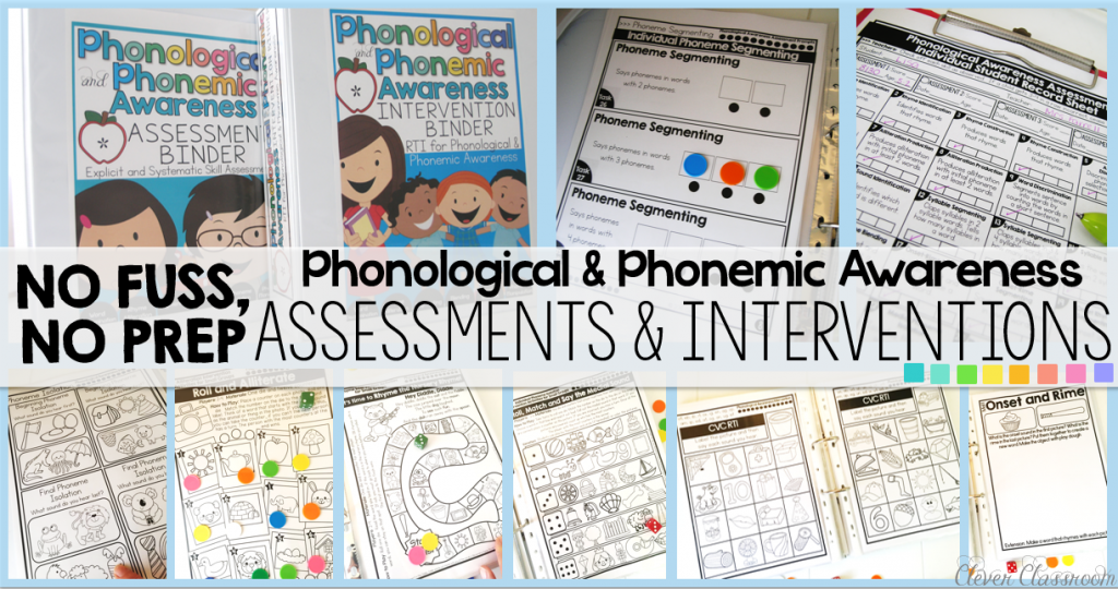 Phonemic and phonological awareness assessments and intervention resources