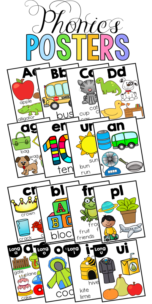 Phonics posters and cards for 10 spelling pattern in 4 different designs, color and black and white too. Click to see more.