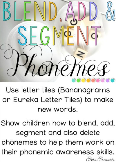 Word work activity to focus on phoneme blending, segmenting and deletion