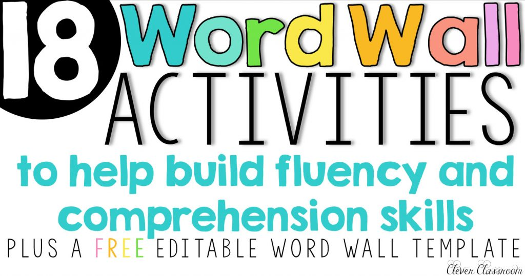 Word Wall Activities To Help Fluency And Comprehension  Help Wanted Template Word