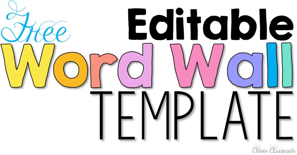 Word wall activities to help fluency and comprehension clever editable word work template free download sciox Gallery