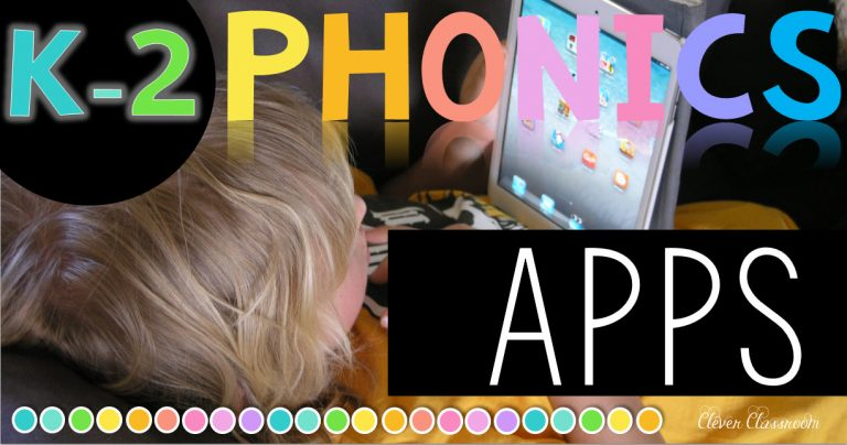 Phonics apps for K-2 classroom