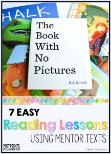 7 Reading Lessons Using Mentor Texts K-2