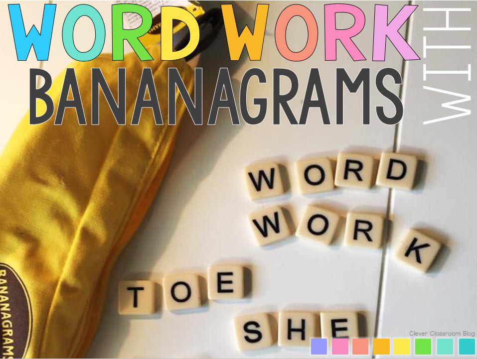 Word Work Activities using Bananagrams