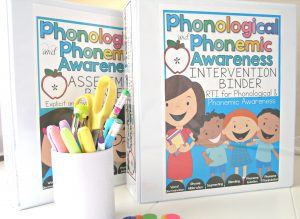 Phonological and Phonemic Awareness Assessment and Intervention Binders BUNDLE