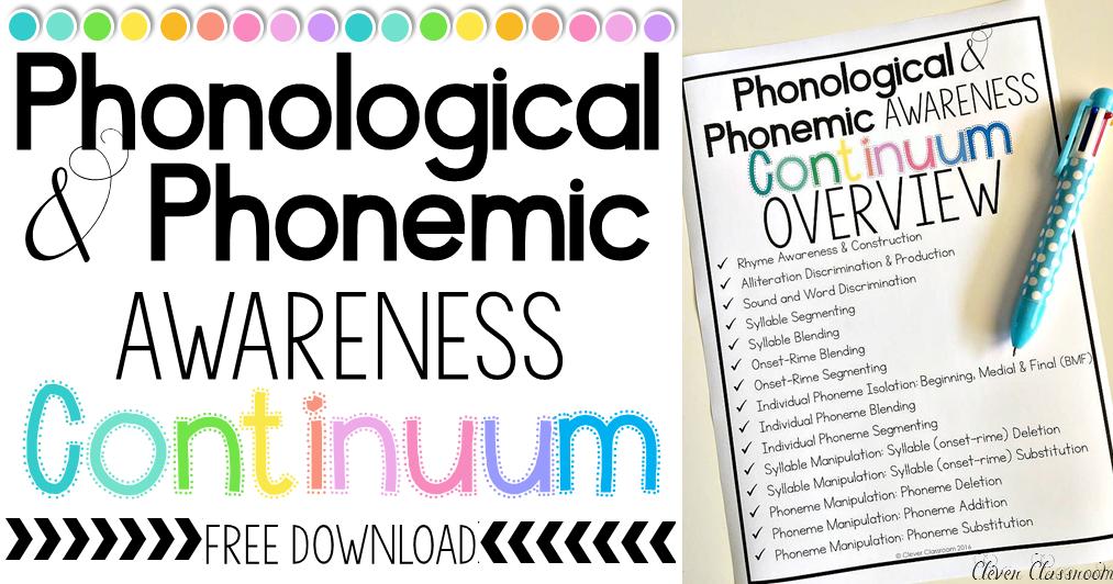 Phoneme Manipulation: Phonemic Awareness Skills